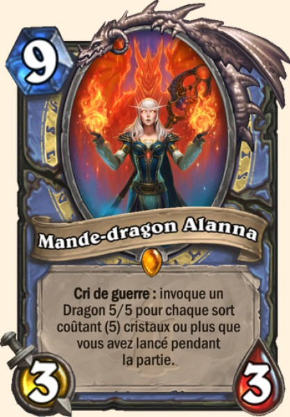 Mande-dragon Alanna carte Hearthstone