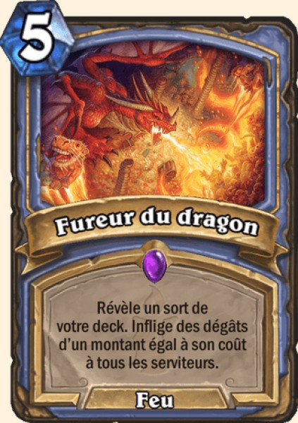 Fureur du dragon carte Hearthstone