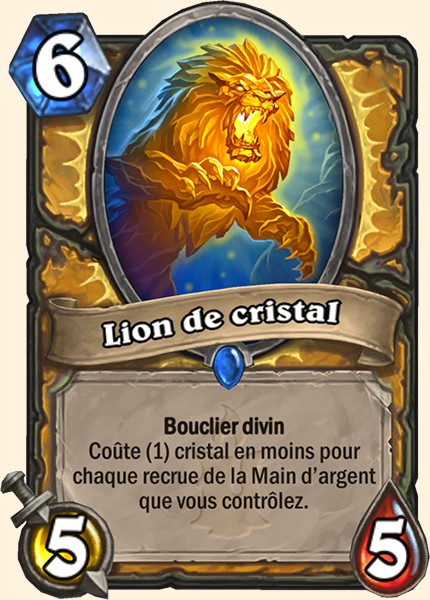 Lion de cristal carte Hearthstone