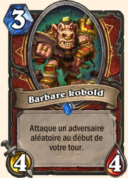 Barbare kobold carte Hearthstone