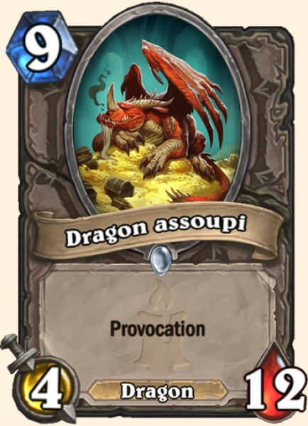 Dragon assoupi carte Hearthstone