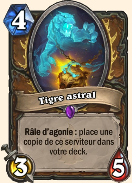 Tigre astral carte Hearthstone