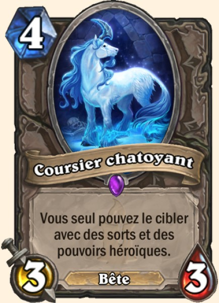 Coursier chatoyant carte Hearthstone