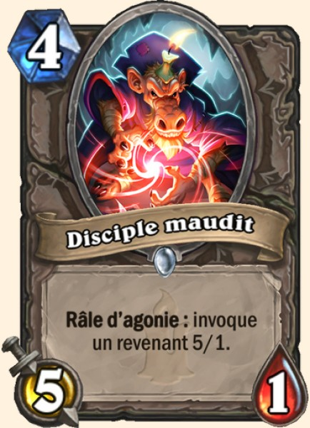Disciple maudit carte Hearthstone