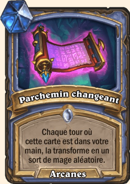 Parchemin changeant carte Hearthstone