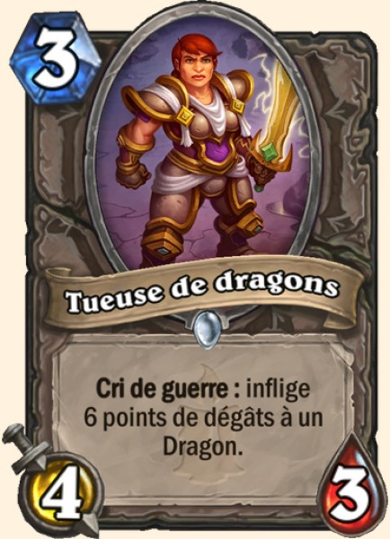 Tueuse de dragons carte Hearthstone