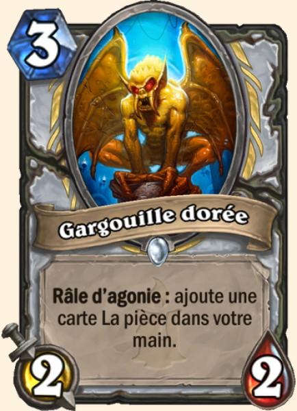 Gargouille dorée carte Hearthstone