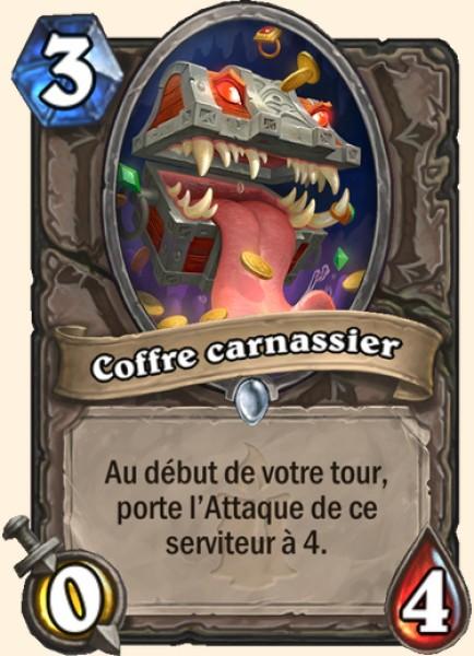 Coffre carnassier carte Hearthstone