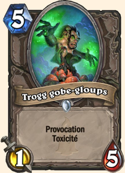 Trogg gobe-gloups carte Hearthstone