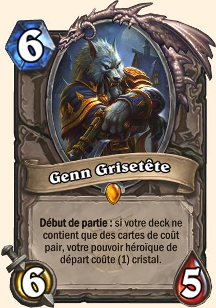 Genn Grisetête carte Hearthstone