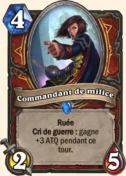 Commandant de milice carte Hearthstone