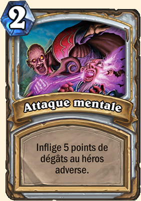 Attaque mentale carte Hearthstone