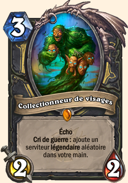 Collectionneur de visages carte Hearthstone