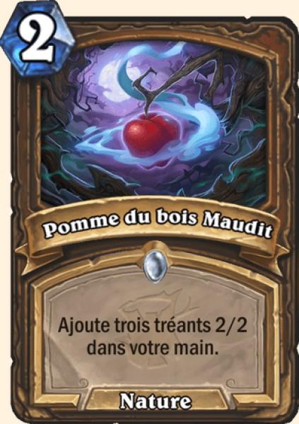 Pomme du bois Maudit carte Hearthstone