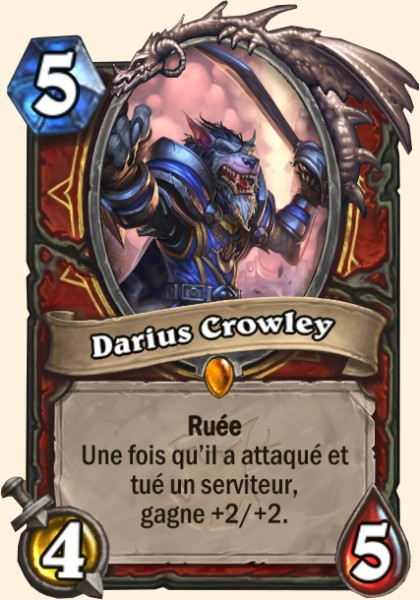 Darius Crowley carte Hearthstone