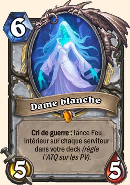 Dame blanche carte Hearthstone