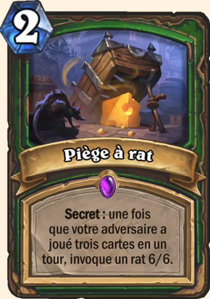 Piège à rat carte Hearthstone