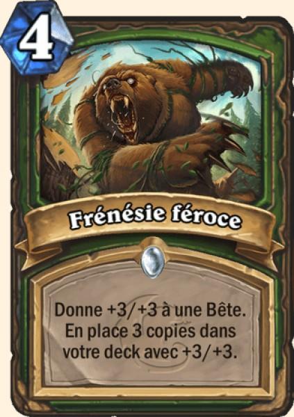 Frénésie féroce carte Hearthstone
