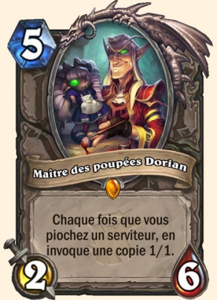 Maître des poupées Dorian carte Hearthstone