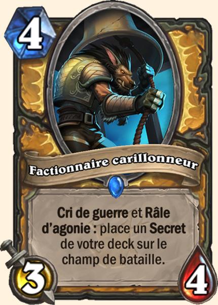 Factionnaire carillonneur carte Hearthstone
