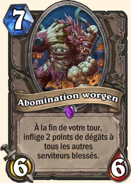 Abomination worgen carte Hearthstone