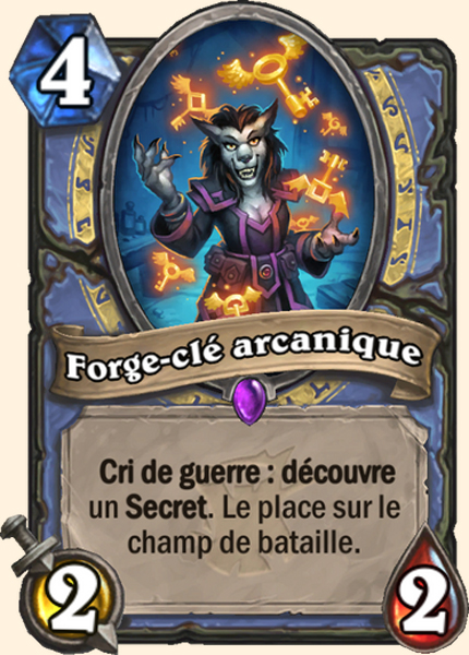 Forge-clé arcanique carte Hearthstone