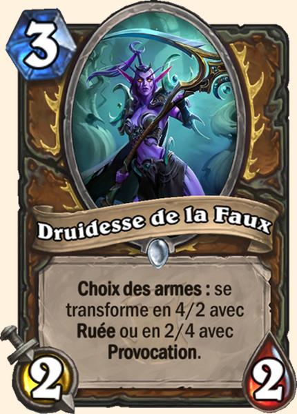 Druidesse de la Faux carte Hearthstone