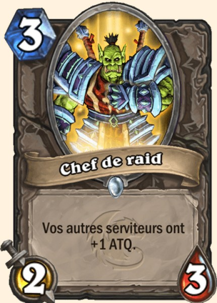 Chef de raid carte Hearthstone