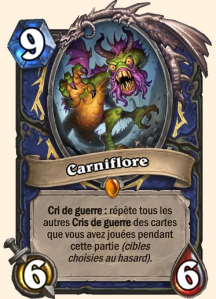 Carniflore carte Hearthstone