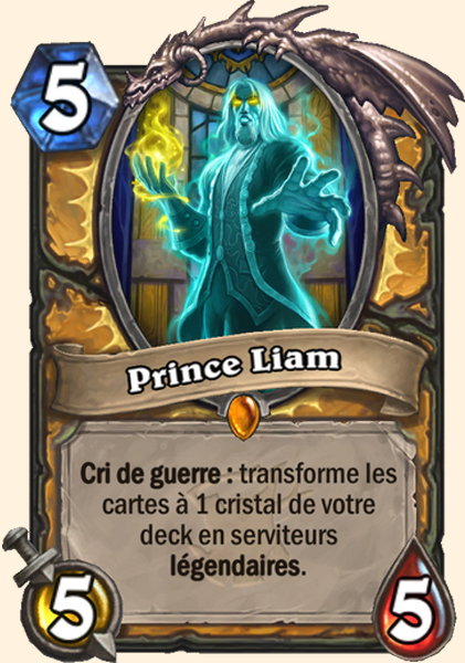 Prince Liam carte Hearthstone