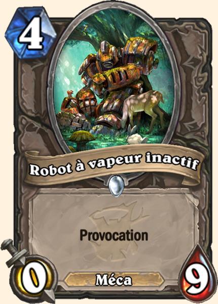 Robot à vapeur inactif carte Hearthstone