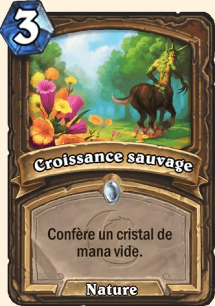 Croissance sauvage carte Hearthstone