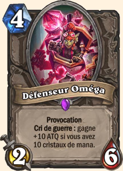 Défenseur Oméga carte Hearthstone