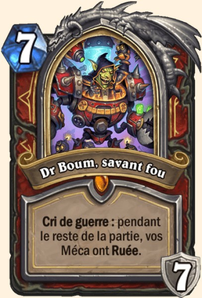 Dr Boum, savant fou carte Hearthstone