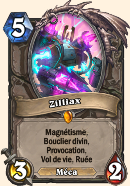Zilliax carte Hearthstone