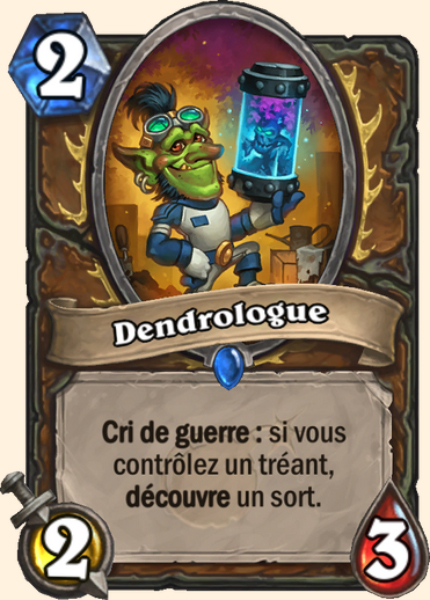 Dendrologue carte Hearthstone