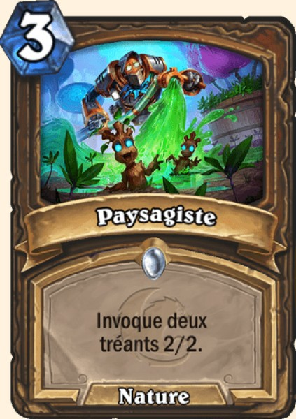 Paysagiste carte Hearthstone
