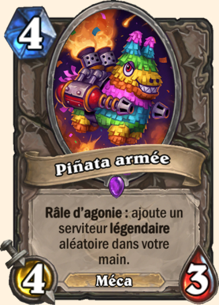 Piñata armée carte Hearthstone
