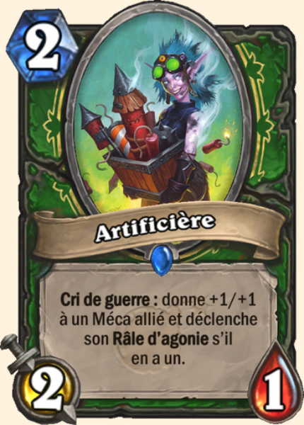 Artificière carte Hearthstone