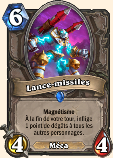 Lance-missiles carte Hearthstone