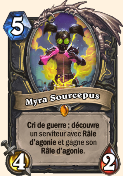 Myra Sourcepus carte Hearthstone
