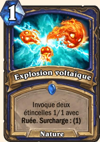 Explosion voltaïque carte Hearthstone