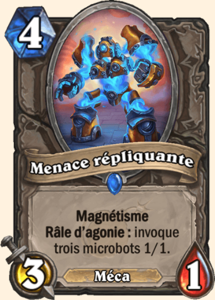 Menace répliquante carte Hearthstone