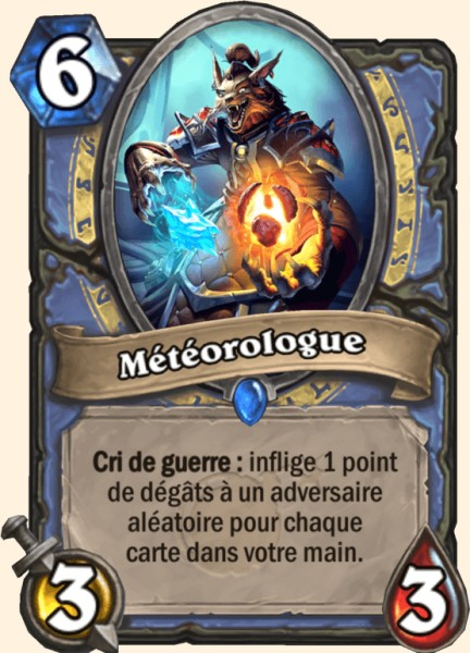 Météorologue carte Hearthstone
