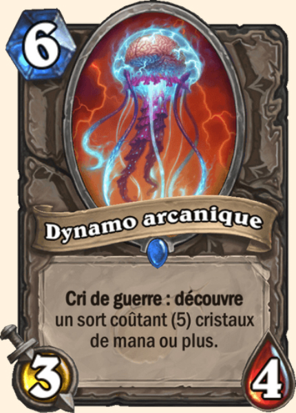 Dynamo arcanique carte Hearthstone
