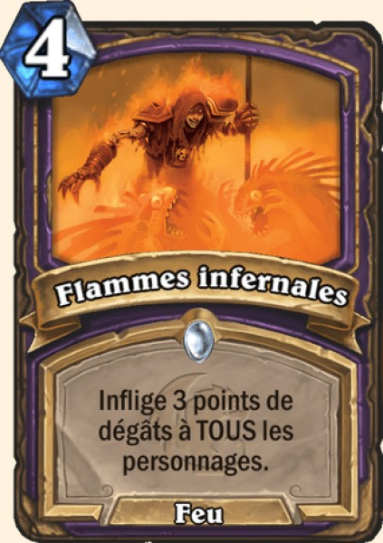 Flammes infernales carte Hearthstone