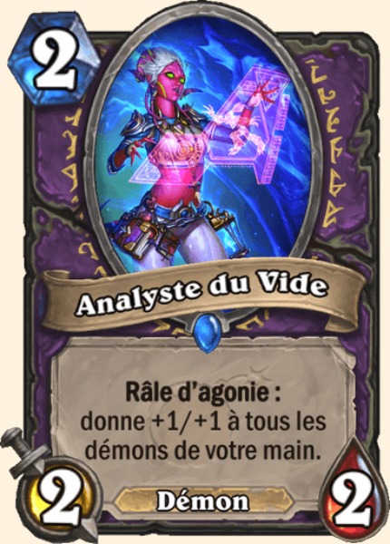 Analyste du Vide carte Hearthstone
