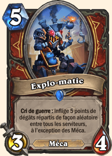 Explo-matic carte Hearthstone