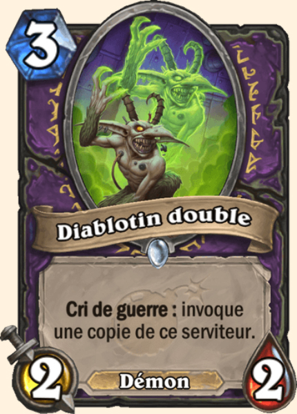 Diablotin double carte Hearthstone