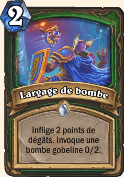 Largage de bombe carte Hearthstone